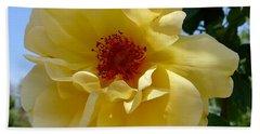 Sunny Yellow Rose Beach Towel