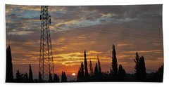 sunrise in Corfu 2 Beach Towel by George Katechis