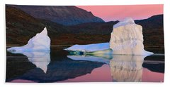 Sunrise In The Rode Fjord Beach Towel