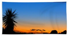 Sunset In The Desert Beach Towel