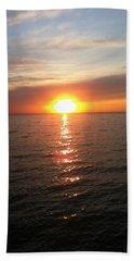Sunset On The Bay Beach Towel by Tiffany Erdman