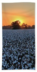 Sunset Over Cotton Beach Towel