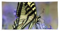 Swallowtail Butterfly Beach Towel by Jack Bell