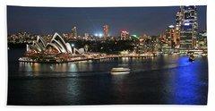 Sydney Harbor At Circular Quay Beach Sheet by Ellen Henneke