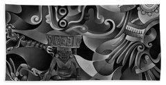 Tapestry Of Gods - Huehueteotl Beach Towel