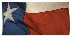 Rustic Texas Flag  Beach Towel by David and Carol Kelly