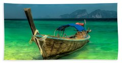 Thai Longboat Beach Towel