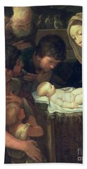 The Adoration Of The Shepherds Beach Towel