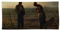 The Angelus Beach Sheet by Jean Francois Millet