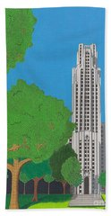 The Cathedral Of Learning Beach Towel