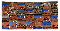 The City's Eyes Sibiu Hermannstadt Romania Beach Sheet