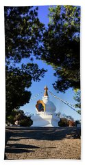 The Kalachakra Stupa Above Trepiche Beach Towel