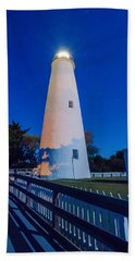 The Ocracoke Lighthouse On Ocracoke Island On The North Carolina Beach Towel by Alex Grichenko
