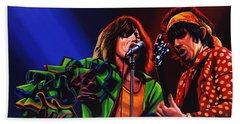 The Rolling Stones 2 Beach Sheet by Paul Meijering