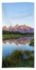 The Tetons Reflected On Schwabachers Landing - Grand Teton National Park Wyoming Beach Towel