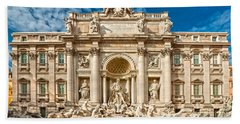 The Trevi Fountain - Rome Beach Towel