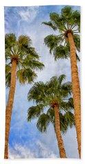 Three Palms Palm Springs Beach Towel by William Dey