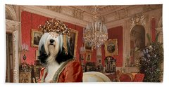 Tibetan Terrier Art Canvas Print Beach Towel