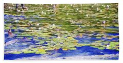 Torch River Water Lilies Beach Towel
