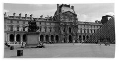Tourists In The Courtyard Of A Museum Beach Towel by Panoramic Images
