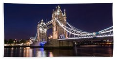 Tower Bridge Beach Towel by Matt Malloy
