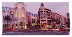 Traffic On The Road, Rodeo Drive Beach Towel by Panoramic Images