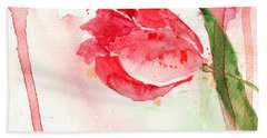 Tulip Flower Beach Towel