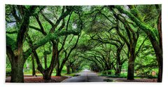 Tunnel Of Oaks Beach Towel