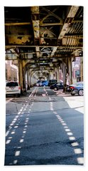 Under The L Tracks Beach Towel
