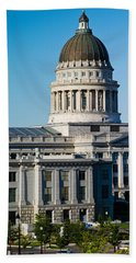 Utah State Capitol Building, Salt Lake Beach Sheet by Panoramic Images