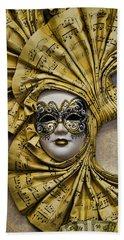 Venetian Carnaval Mask Beach Sheet