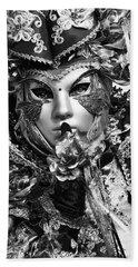 Venetian Mask Beach Sheet