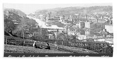 View Of Conshohocken Pennsylvania C 1900 Beach Sheet