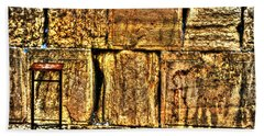 Beach Sheet featuring the photograph Wailing Wall by Doc Braham