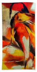 Beach Towel featuring the painting Waiting by Dragica  Micki Fortuna