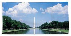 Washington Monument Washington Dc Beach Sheet by Panoramic Images