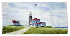 Watch Hill Ri Lighthouse Beach Towel