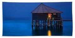 Water Villa In The Maldives Beach Sheet