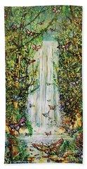 Waterfall Of Prosperity II Beach Sheet