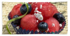 Watermelon Blueberry And Goatcheese Beach Towel