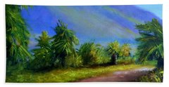 West Maui Mountains Beach Towel by Fred Wilson