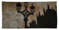 Beach Towel featuring the digital art Westminster Silhouette by Matt Malloy
