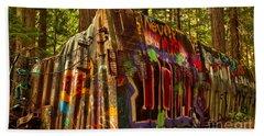 Whistler Train Derailment Box Car Beach Towel