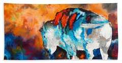 White Buffalo Ghost Beach Towel