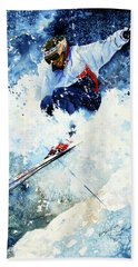 White Magic Beach Towel by Hanne Lore Koehler