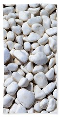 White Pebbles Beach Towel