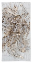 White With Gold Beach Towel