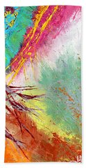 Modern Abstract Diptych Part 2 Beach Towel