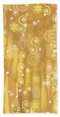 Beach Towel featuring the digital art Winter Dress Detail by Kim Prowse