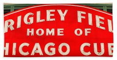 Wrigley Field Sign Beach Towel